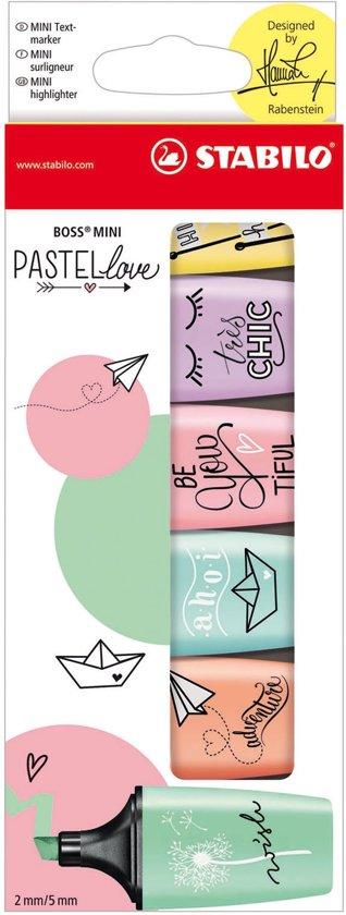 STABILO BOSS MINI Pastellove Edition - Etui 6 Stuks
