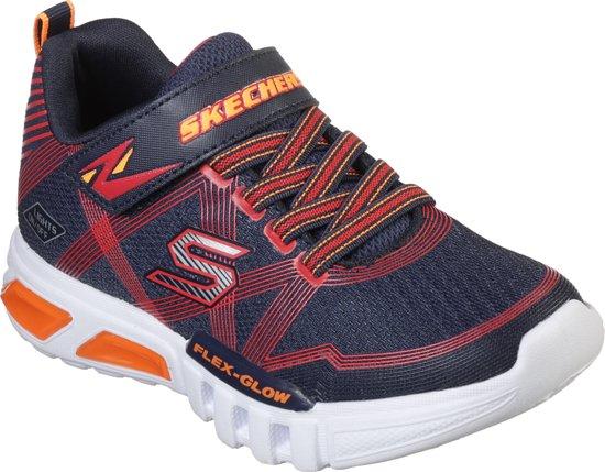 Skechers Flex Glow Jongens Sneakers - Blauw - Maat 34