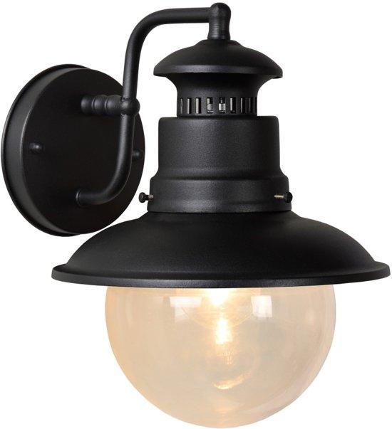 Lucide FIGO - Wandlamp Buiten - Ø 21,3 cm - IP44 - Zwart