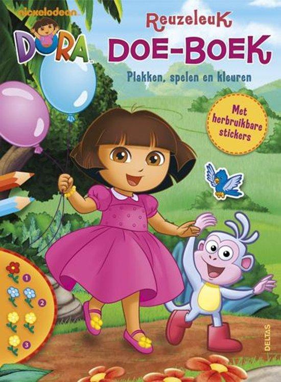 Dora reuzeleuk doe-boek (met herbruikbare stickers)