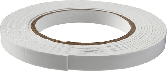 3D foam tape, b: 12 mm, dikte 2 mm, 5m