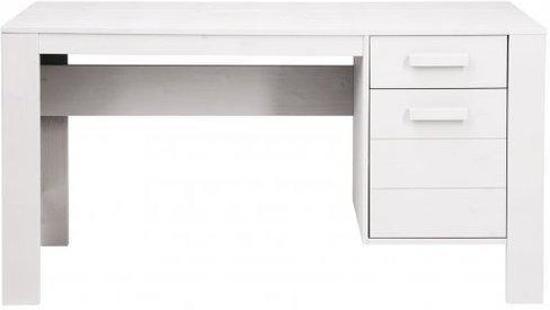 ≥ bureau wit hout en glazen blad bureaus en bureaustoelen