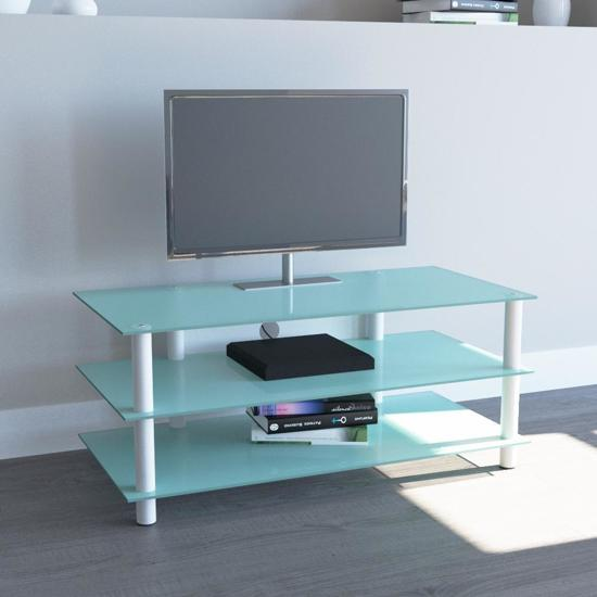 Design Tv Meubel Glas.Bol Com Tv Meubel Tv Kast Zumbo 110 Wit Mat Glas