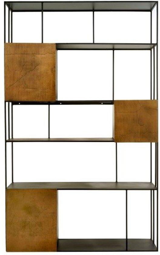 Stellingkast 25 Cm Diep.Pols Potten Shelf Unit Double Gold Doors Stellingkast