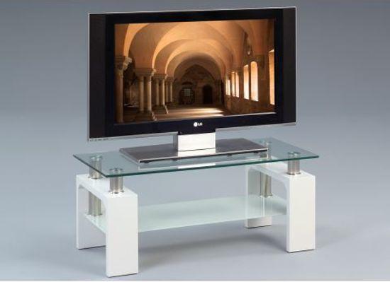 Woonexpress Deventer - Tv-meubel - Wit - Glas