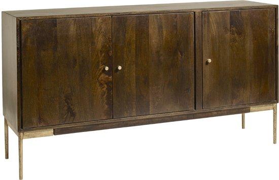 Bol.com dressoir buffet nordal hout 85x160x40