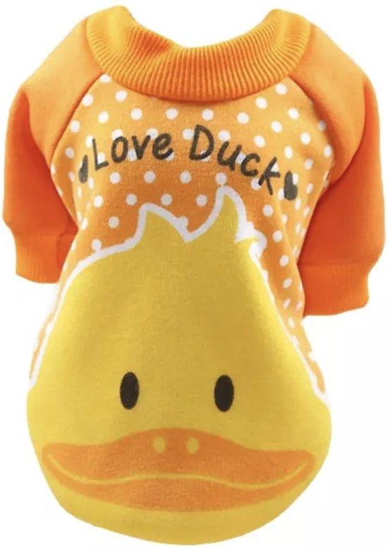 Oranje Trui.Bol Com Trui Voor Honden Oranje Trui Voor Hondjes Love Ducks