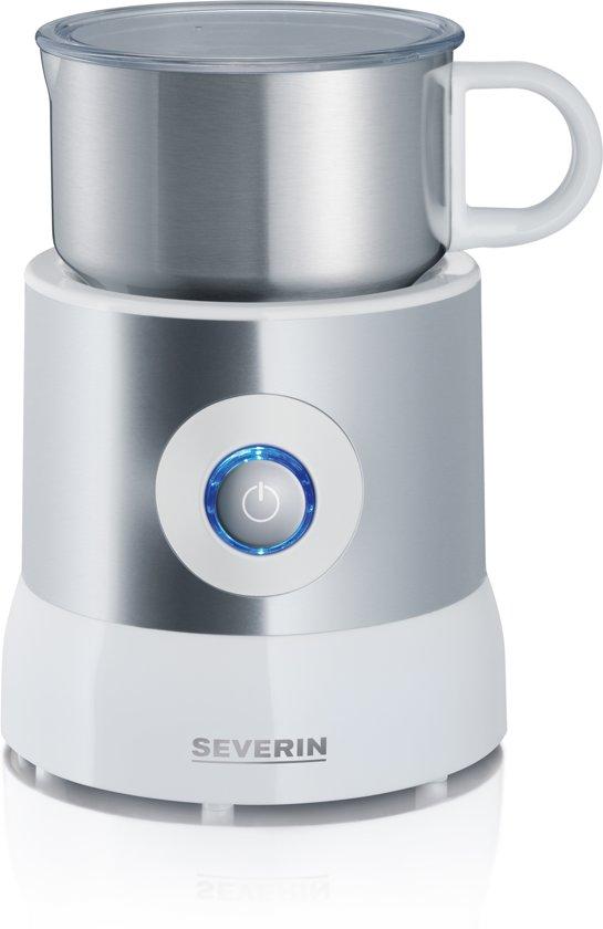 Severin SM 9684 - Melkopschuimer -Zilver/wit