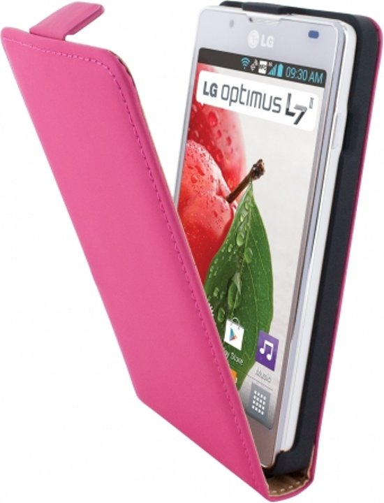 Mobiparts Premium Flip Case LG Optimus L7 II Pink in Biezenmortel