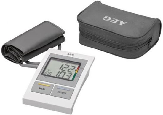 AEG BMG 5612 Weiß/Grau Oberarm-Blutdruckmessgerät