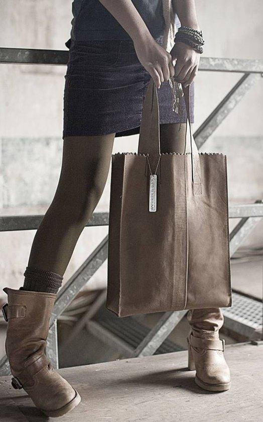 My Hunter Handle Paper Waxy Long Bag Zip Myomy Taupe Schoudertas fnPHqUwna