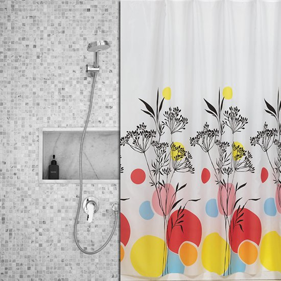 Roomture - douchegordijn - Colorful Grass  - 120 x 200