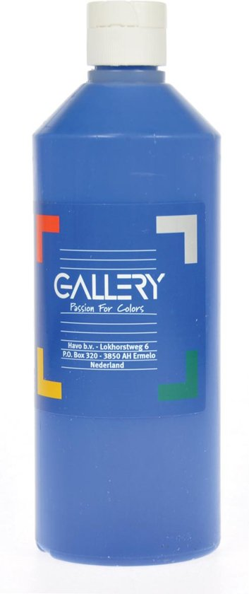 17x Gallery plakkaatverf, flacon van 500 ml, donkerblauw