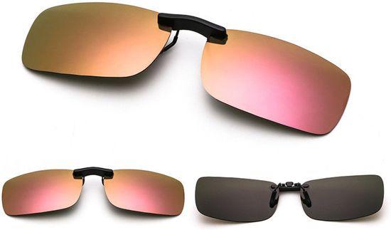 67402663bf341b clip on voorzet nachtbril zonnebril rosé   goudkleurig