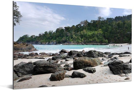 Uitzicht op het Nationaal park Meru Betiri in Indonesië Aluminium 30x20 cm - klein - Foto print op Aluminium (metaal wanddecoratie)