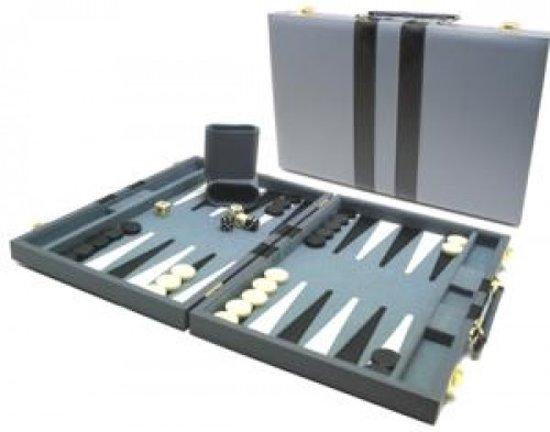 Hot sports Backgammon koffer grijs 38x24