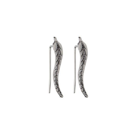 Veer Oorknoppen - Veertjes Oorbellen - Metaal - Zilverkleurig