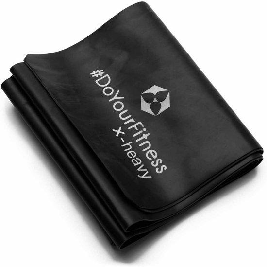 #DoYourFitness Weerstandsband Amul - 120 x 15cm - Zwart (extra strong)