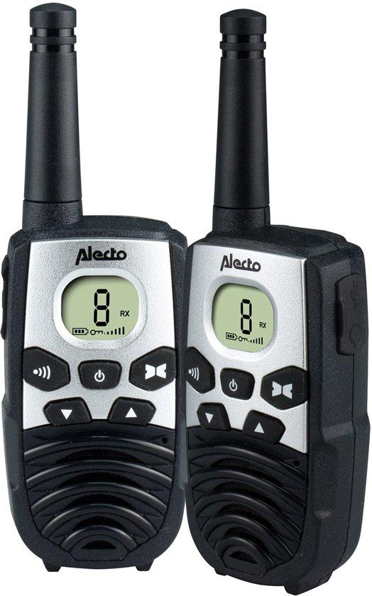 Alecto FR-24 Walkie talkie   Met bereik tot wel 7 km   LCD display met verlichting   Zwart
