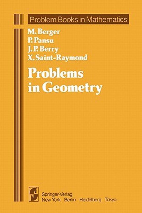 Boek cover Problems in Geometry van Marcel Berger (Paperback)