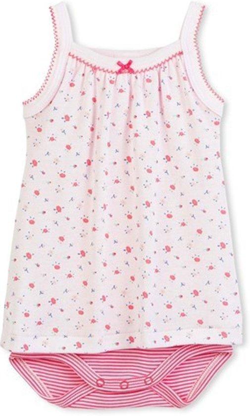 Petit Bateau Meisjes Rompertje - roze vienne / multico - Maat 12 mnd