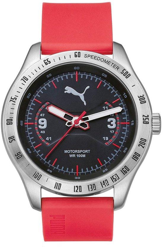 7ca92eac6d3 bol.com | Puma - PU104031003 - Horloge - Polyurethaan - Rood - 46 mm