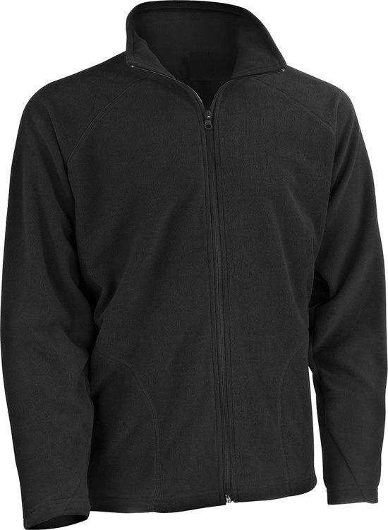 Microfleece Basic Laag Xl Senvi Maat Fleece Zwart VestThermisch Kleur vNwOP8m0yn