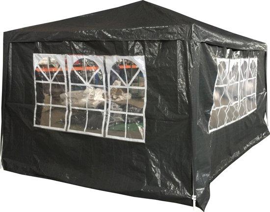 Party tent 3x4m - 4 zijwanden - Antraciet