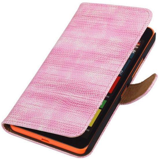MiniPrijzen -  booktype - bookstyle - Wallet Case - Flip Cover - Book Case Bescherm Hoes Roze glamour Microsoft Lumia 640 XL Telefoonhoesje - Smartphone hoesje in Deurningen