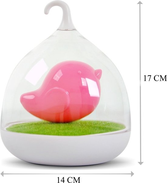 ditto vogel lamp in vorm vogelkooitje roze nachtlamp kinderkamer decoratie