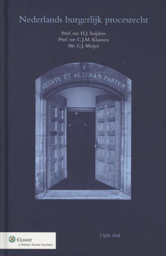 Boek cover Nederlands burgerlijk procesrecht van H.J. Snijders (Hardcover)
