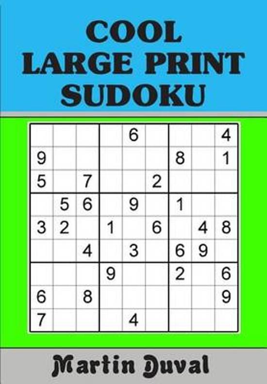 Bol Cool Large Print Sudoku 9781500937904 Martin Duval