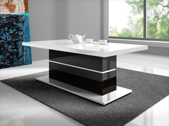 Zwart Wit Salon Tafel.Meubella Salontafel Marinto Wit Zwart