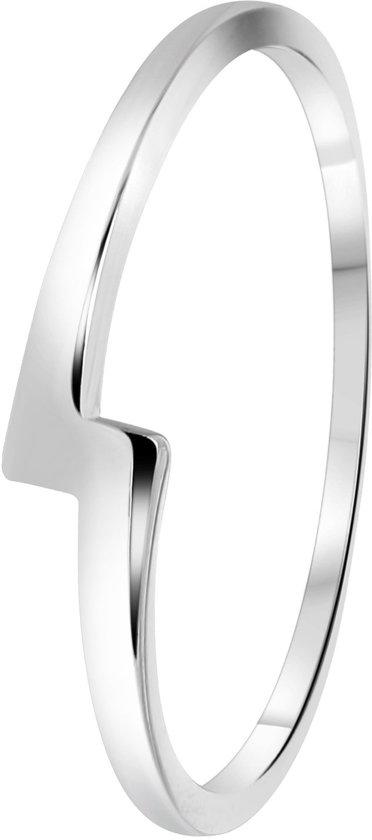 Lucardi - Zilveren ring bliksemschicht