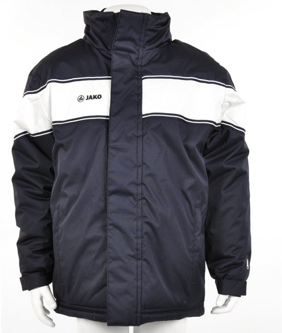 Jako Coach Jacket Player Junior - Sportjas - Kinderen - Maat 164 - Donker Navy;Wit