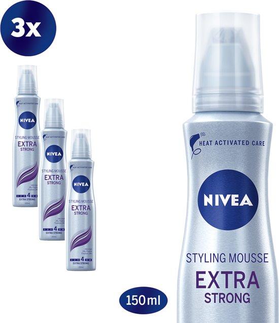 NIVEA Extra Strong  Haarmousse - 3 x 150 ml - Voordeelverpakking