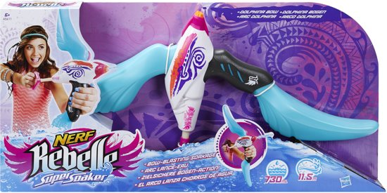 Nerf Rebelle Super Soaker Dolphina Blue Kruisboog Waterpistool – 63x31x7cm | Zomer Speelgoed | Buiten Spelen