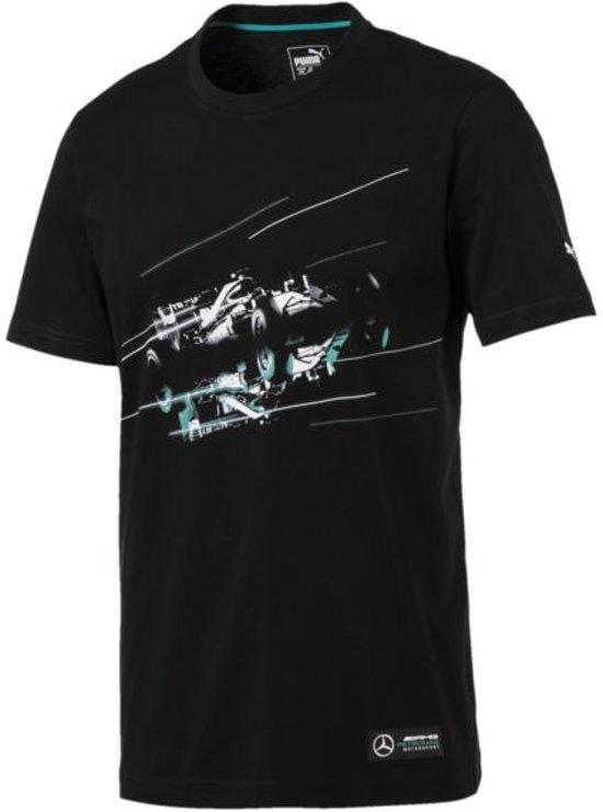 PUMA MAPM Graphic Tee Shirt Heren - Puma Black