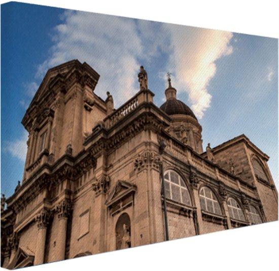 FotoCadeau.nl - De kathedraal van Dubrovnik Canvas 80x60 cm - Foto print op Canvas schilderij (Wanddecoratie)