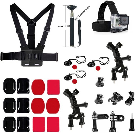 27 in 1 Outdoor GoPro Accessories Kit voor GoPro Hero 4/3+/3/2/1 en Actioncam