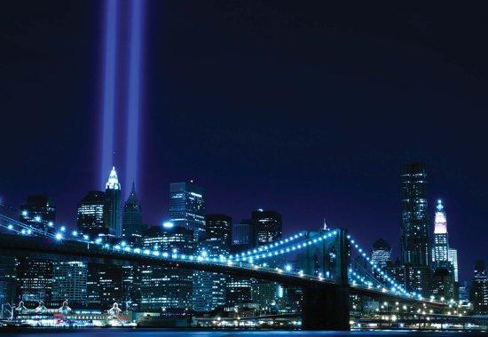 Fotobehang New York City Brooklyn Bridge | DEUR - 211cm x 90cm | 130g/m2 Vlies