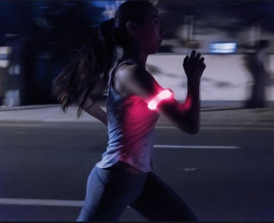 Reflecterende Hardloop Verlichting - Hardloop / Fiets Sport Armband Met LED Verlichting Oranje