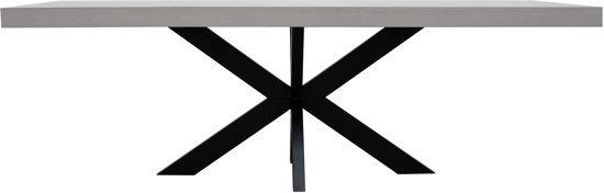 Industriele Tafel Eettafel.Industriele Beton Cire Tafel 180x100cm Metalen Tafelpoten Eettafel