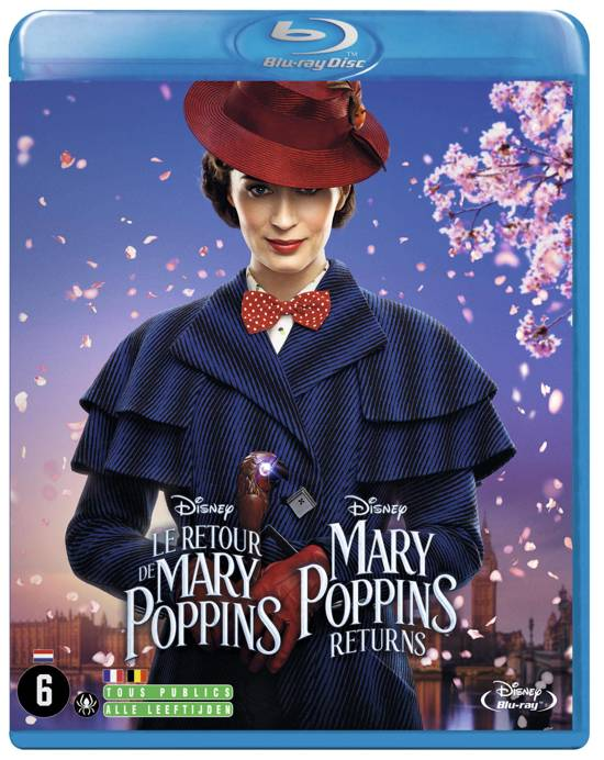 DVD cover van Mary Poppins Returns (Blu-ray)