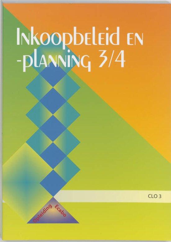 Inkoopbeleid en -planning 3/4 leerlingenboek