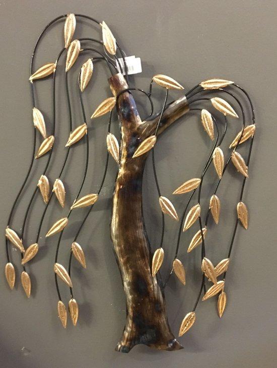 bolcom wanddecoratie treurwilg metaal