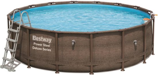Bestway Power Steel Zwembadset Deluxe Series rond 56666