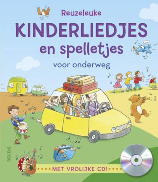 Cover van het boek 'Reuzeleuke kinderliedjes en spelletjes  + vrolijke cd' van  Nvt