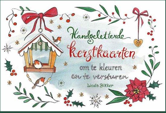 Bol Com Handgeletterde Kerstkaarten Om Te Kleuren