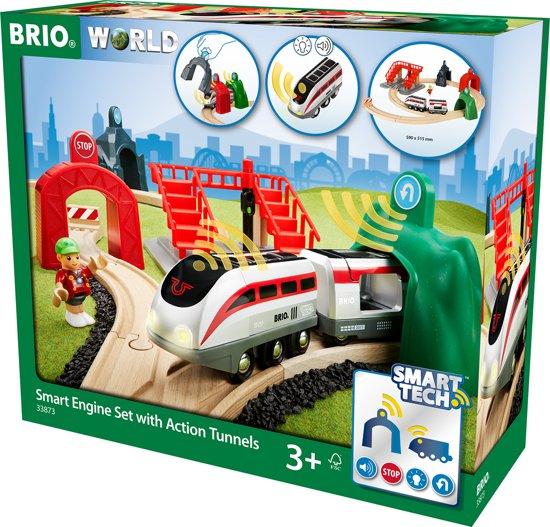 BRIO SMART locomotiefset met actietunnels - 33873